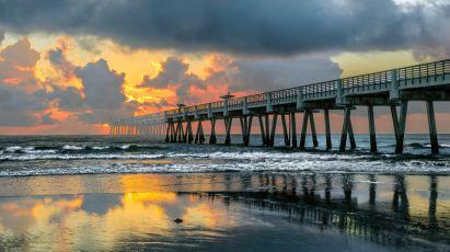 Ghost Pier - Jax Beach Pier after hurricane