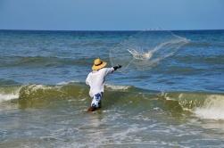 Fisherman by Jax Beach Pier