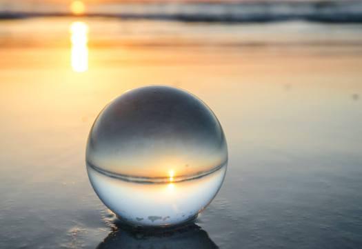 Ball on Smooth Beach