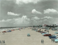 Jax Beach 1960's - Restored Color Details