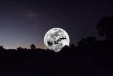 Guana Beach santa in moon