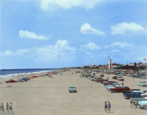 Jax Beach 1960's (Restored & Colorized)