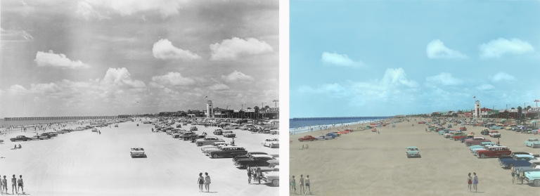Jax Beach Pier 1960's (Restored & Colorized)